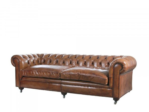 Pure Sofa Sam 240 als 3-Sitzer im Chesterfield-Look