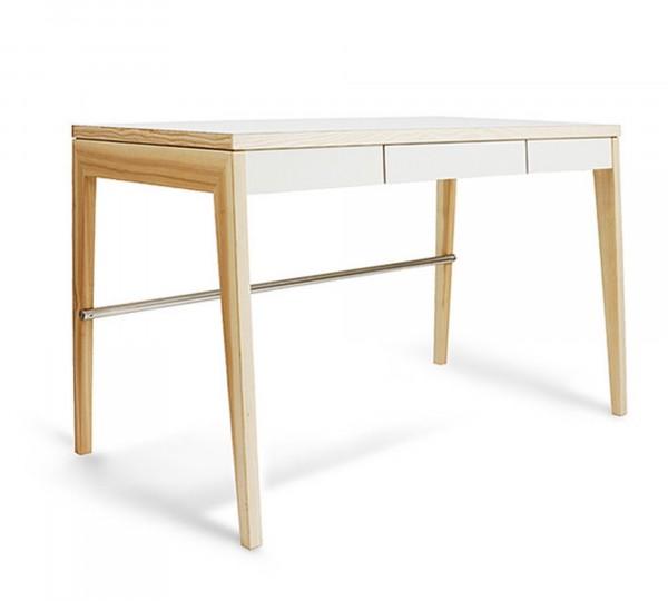 Mint Design Schreibtisch M2400/1 aus Massivholz 3 Schubladen