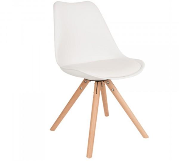 Zuiver Stuhl TRYCK in weiß