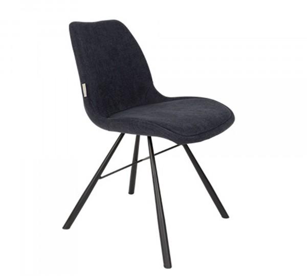 Zuiver Stuhl BRENT Stoff tiefseeblau