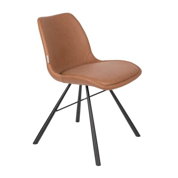 Zuiver Stuhl Brent Air Kunstleder braun