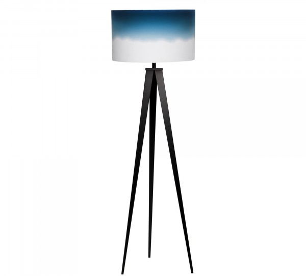Luxus Designer Stehleuchte Tripod schwarz blau
