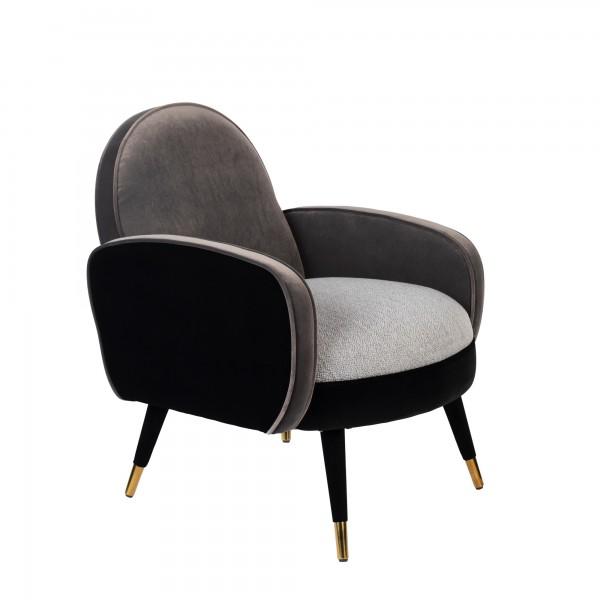 Zuiver Sessel SAM in Stoff schwarz grau
