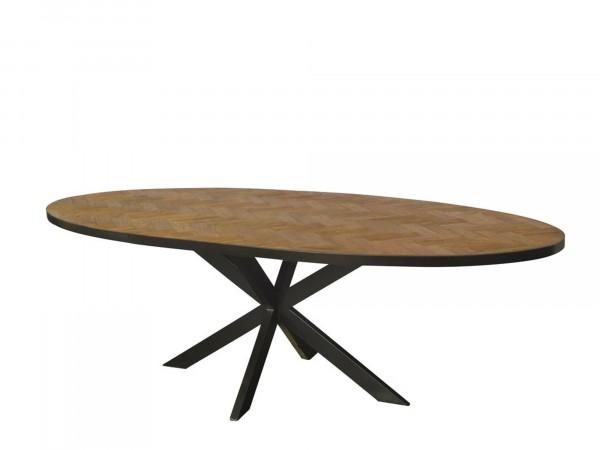 Vintage Design Esstisch 240 x 100 cm oval