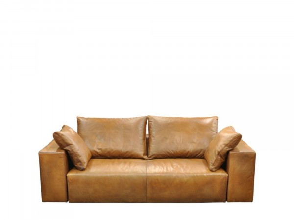 Pure Designer Sofa in Leder und Stoff