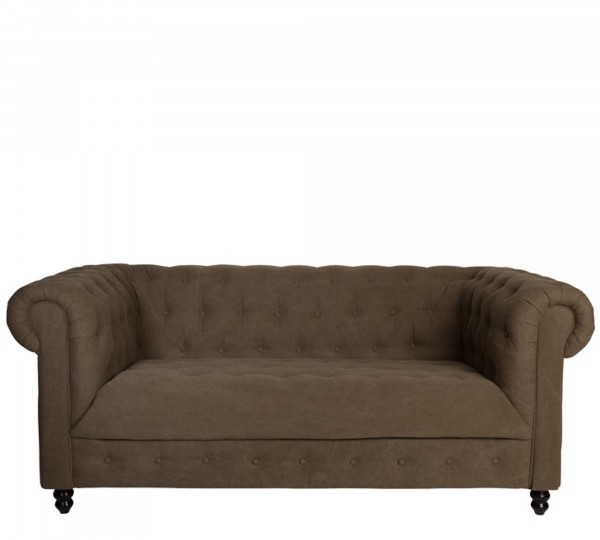 Dutch Bone Sofa CHESTER VINTAGE FOREST in Forest 13/braun