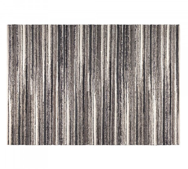 Dutch Bone Flachwebteppich CARVE in weiß/kohlengrau | 170x240 cm