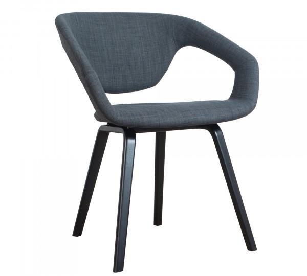 Zuiver Flexback Stuhl dunkelgrau schwarz