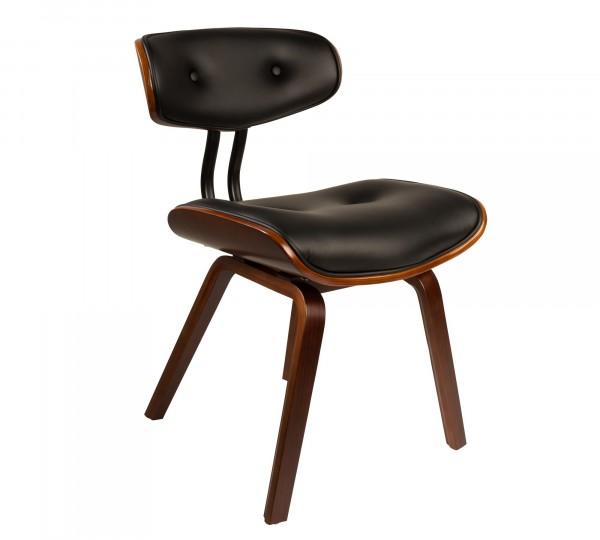 Dutch Bone Blackwood Stuhl in schwarz und Nussbaum