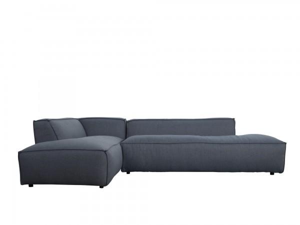 Zuiver Designer Sofa Loftstyle Stoff graublau
