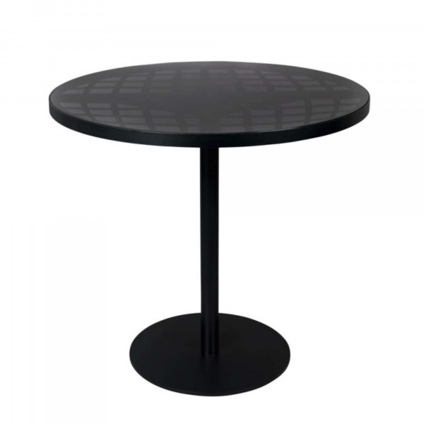 Zuiver Albert Bistro Tisch rund outdoor schwarz