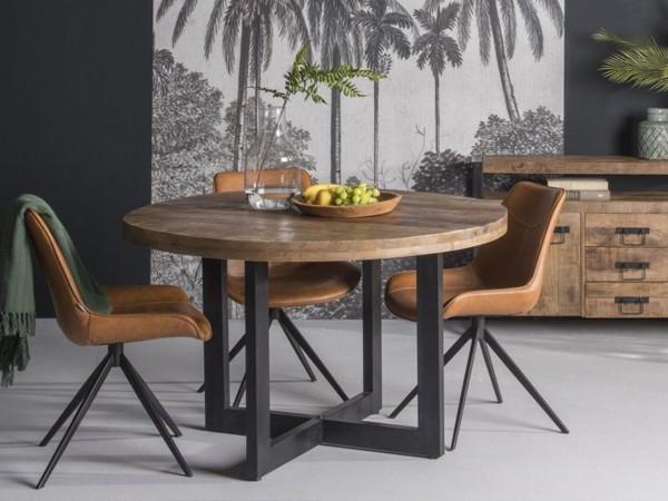 Massivholz Tisch rund
