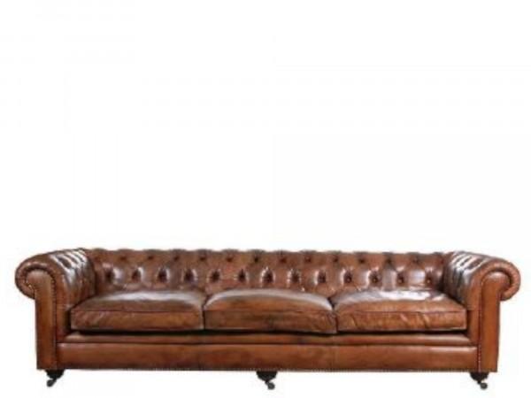 3-Sitzer Sofa Chesterfield Style mit Knöpfen im Rücken