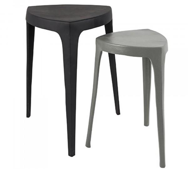 Zuiver Beistelltisch-Set TIGA in grau und schwarz