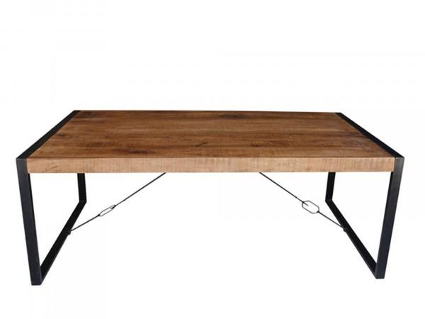 Esstisch STONE 220x100 cm Massivholzim Industrial-Style