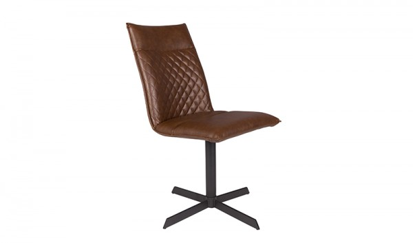 Zuiver Stuhl IVAR Kunstleder braun