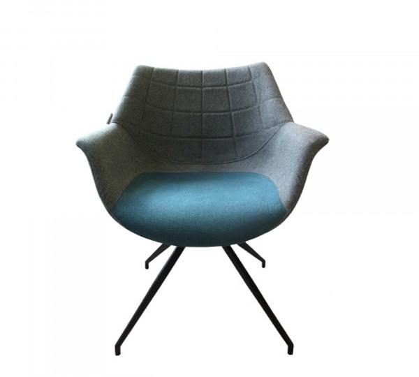 Zuiver Doulton Armlehnstuhl Stoff blau