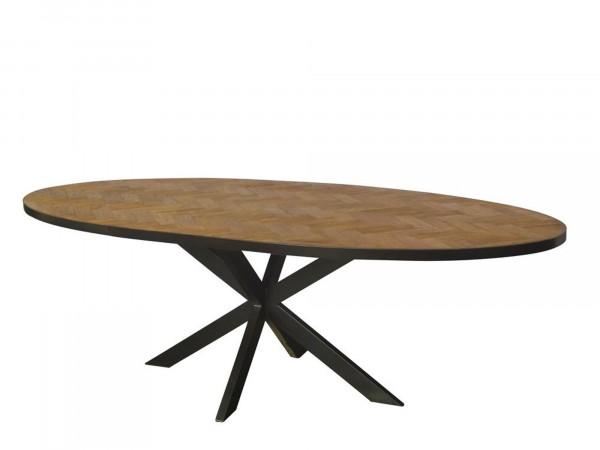 Designer Massivholz Tisch oval