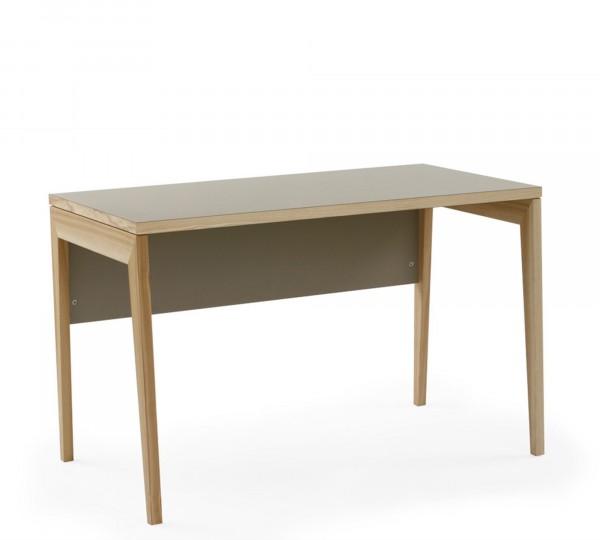 Mint Design Schreibtisch M2300 aus Massivholz mit Sichtblende
