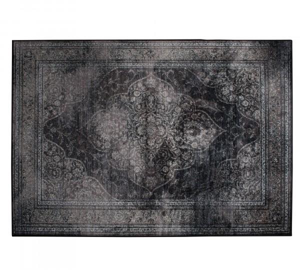 Vintage Teppich Rugged von DutchBone in schwarz