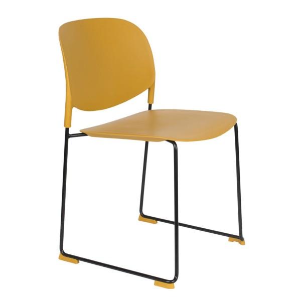 Zuiver Stuhl Stacks ocker stapelbar