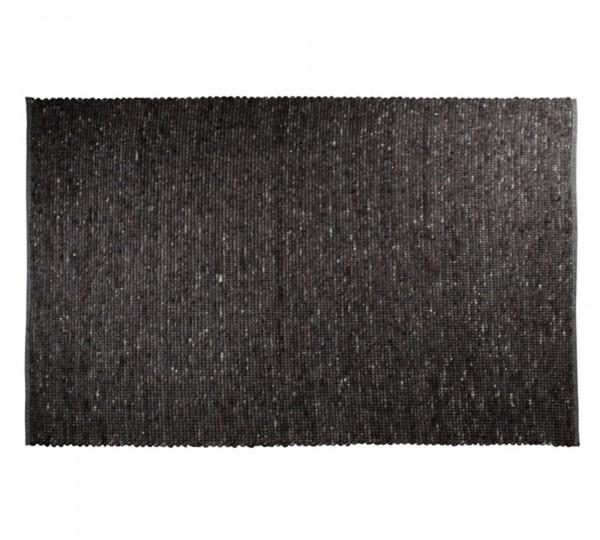 Handgewebter Teppich PURE dunkelgrau von Zuiver