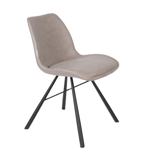 Zuiver Stuhl Brent Air Kunstleder grau