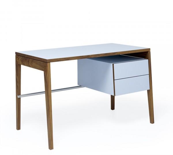 Mint Design Schreibtisch M2500 mit Schubfach aus Massivholz 3 Schubladen