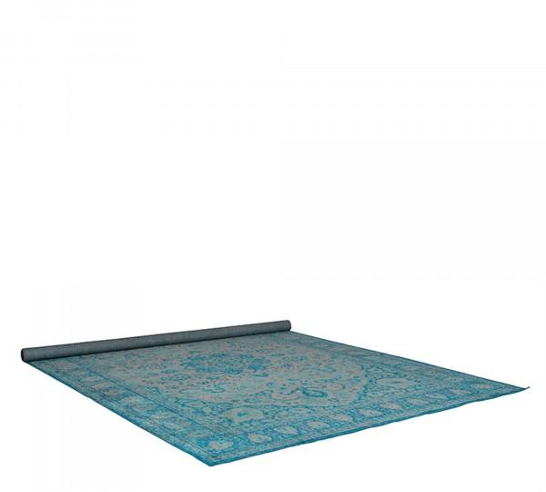 Zuiver Teppich CHI 160x230cm in Vintage Optik blau