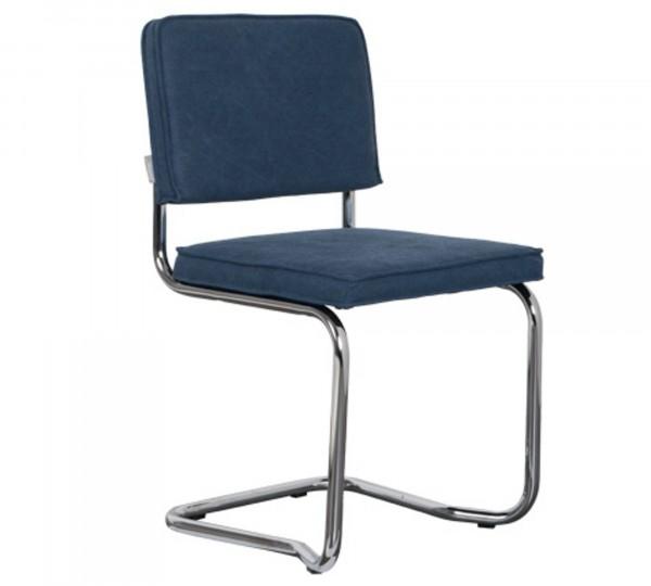 Zuiver Stuhl Ridge Kink Vintage seemanns blau 11