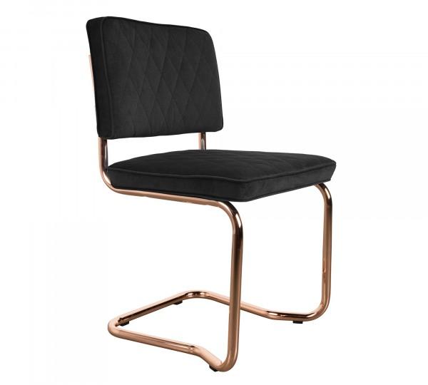 Diamond Kink grau Freischwinger Stuhl von Zuiver