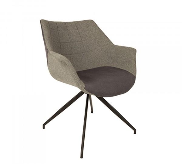 Zuiver Stuhl Doulton Stoff grau