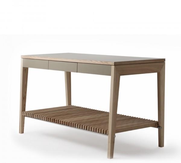 Mint Design Küchenzeile M1001 mit Echtholz und großer Ablage