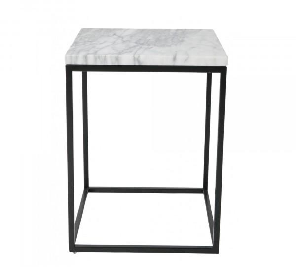 Zuiver Beistelltisch MARBLE POWER mit Tischplatte aus Marmor weiß