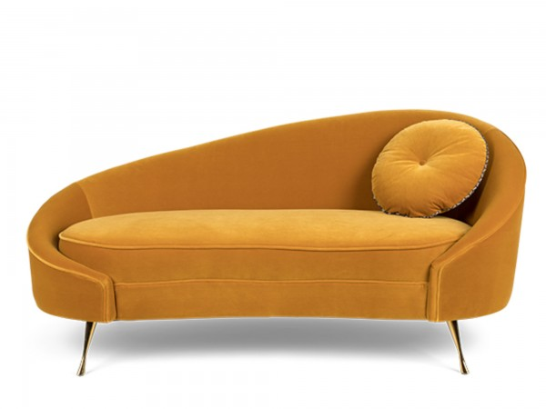Bold Monkey Sofa I am Not a Croissant Stoff gelb