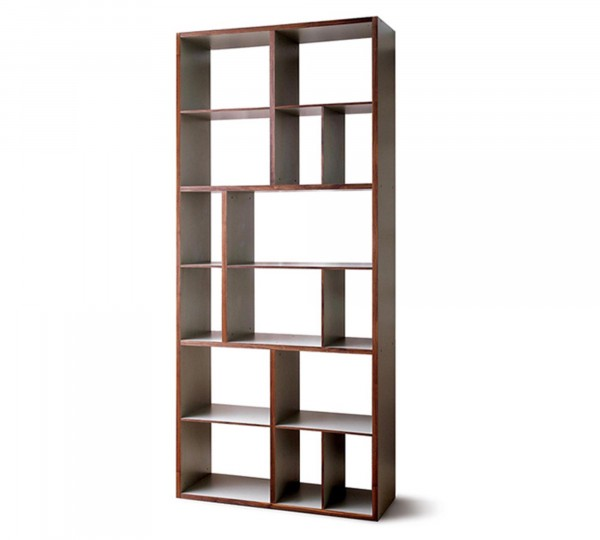 """Mint Design Raumteiler Regal """"Shelf L"""" Massivholz mit B111cm H266cm"""