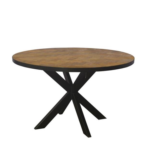 Tisch 130 cm rund aus Massivholz Teak