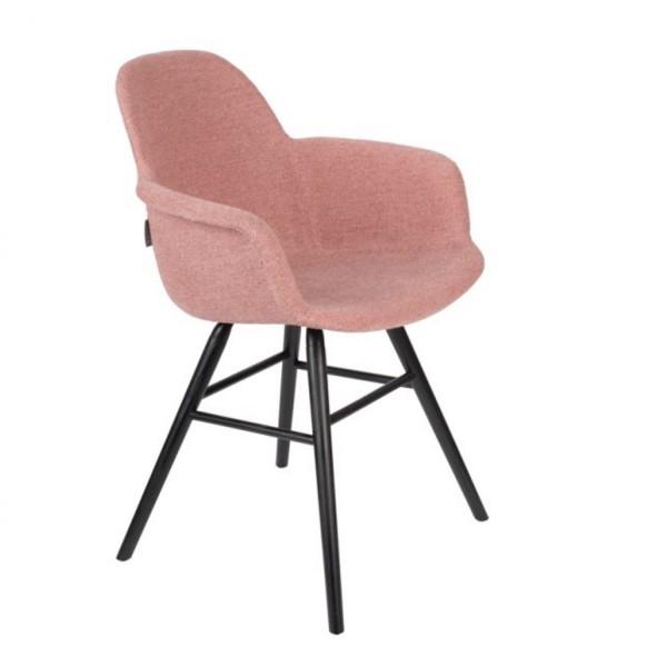 Zuiver Stuhl Kuip Soft Armlehnen pink