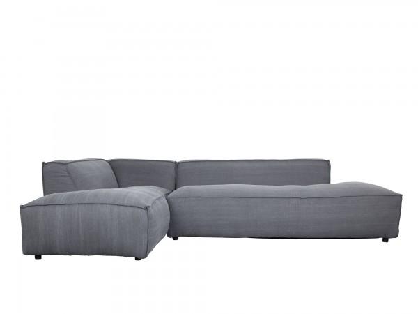 Zuiver Designer Sofa Loftstyle Stoff steingrau