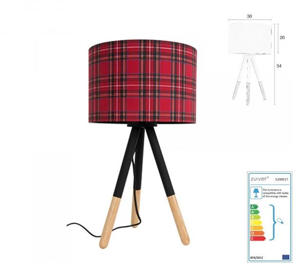 Zuiver Tischleuchte Highland scottisch rot