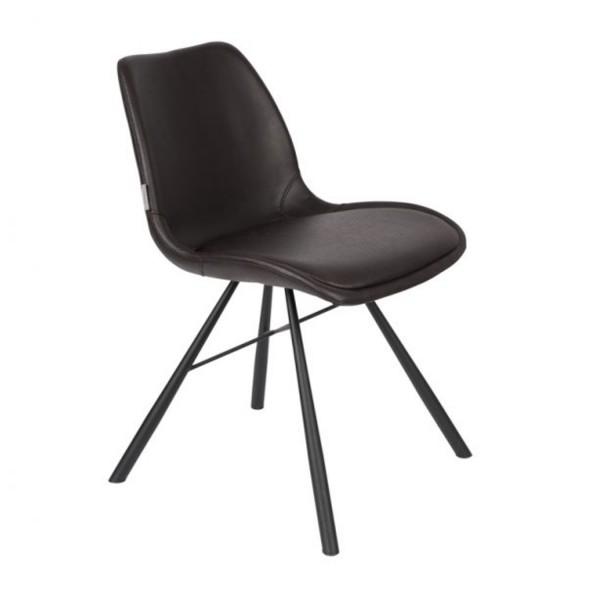 Zuiver Stuhl Brent Air Kunstleder schwarz