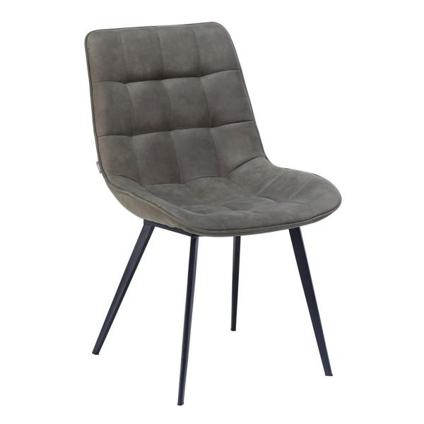 Stuhl Kunstleder olivengrau gesteppt