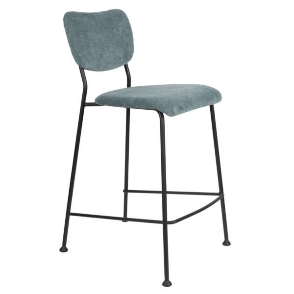 Zuiver Tresenstuhl BENSON Stoff graublau