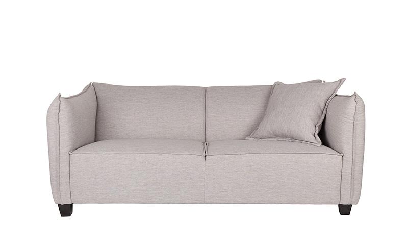 Zuiver Sofa 2,5-Sitzer JOSEY in Stoff TWILL grau | 2 ...