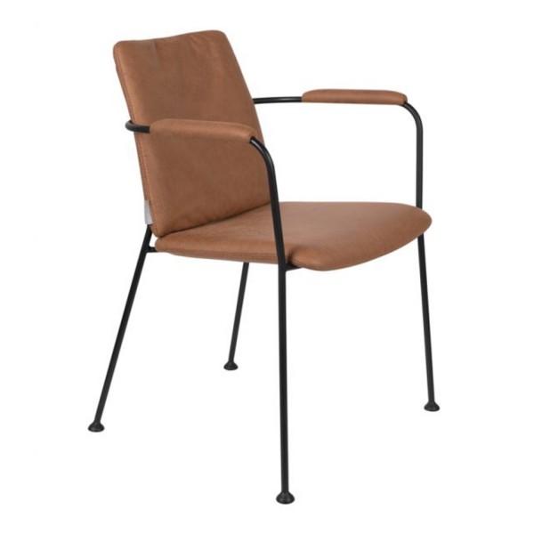 Zuiver Stuhl FAB braun mit Armlehnen