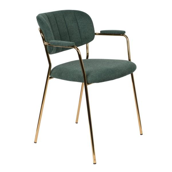 Zuiver Designerarmlehnstuhl in Stoff dunkelgrün