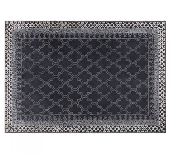 Dutch Bone Webteppich KASBA in schwarz | 170x240 cm