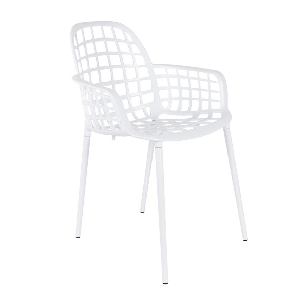 Zuiver Armlehnstuhl Albert Kuip weiß outdoor stapelbar