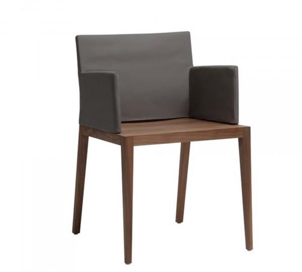 Luxus Designer Holzstuhl mit Husse