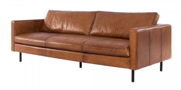 Pure Sofa Finland 220 3-Sitzer in Echt Leder hellbraun